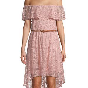 Women's Off The Shoulder Lace Dress NEW